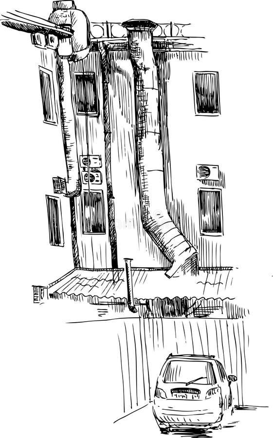 эскиз урбанский иллюстрация штока