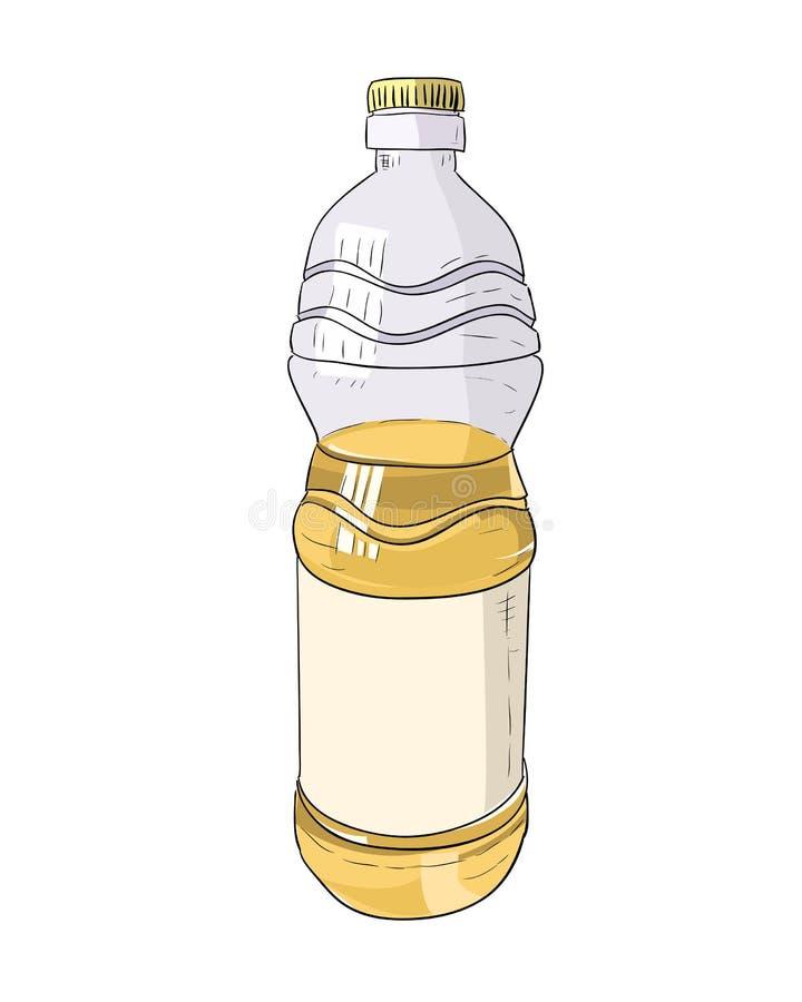 Эскиз цвета вектора пластичной бутылки бесплатная иллюстрация