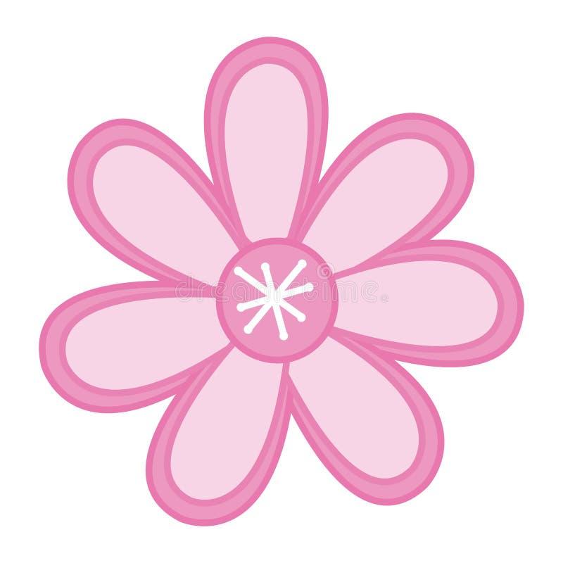 эскиз цвета с розовым цветком иллюстрация штока
