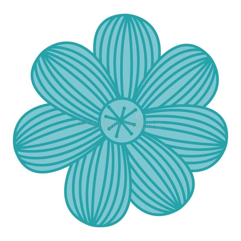 эскиз цвета цветка с нашивками бесплатная иллюстрация