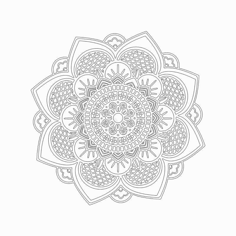 Эскиз цветка лотоса стоковая фотография rf