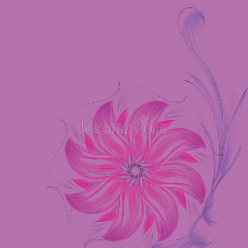 эскиз цветка drawnd руки красочный стоковые фотографии rf