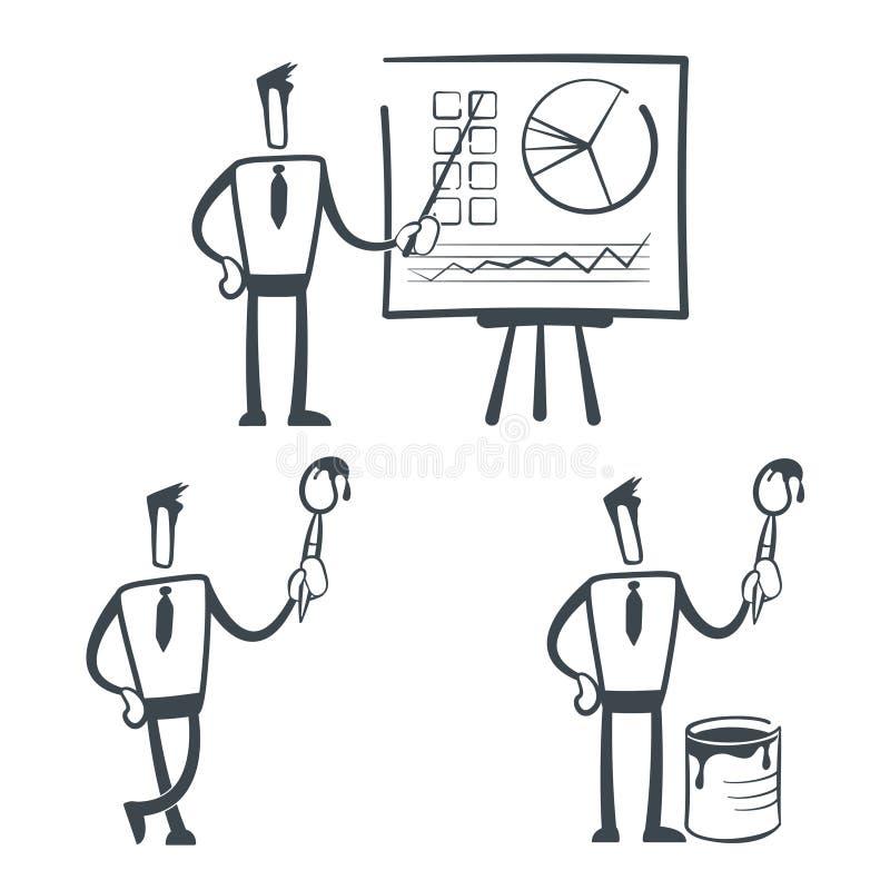 эскиз человека иллюстрация вектора