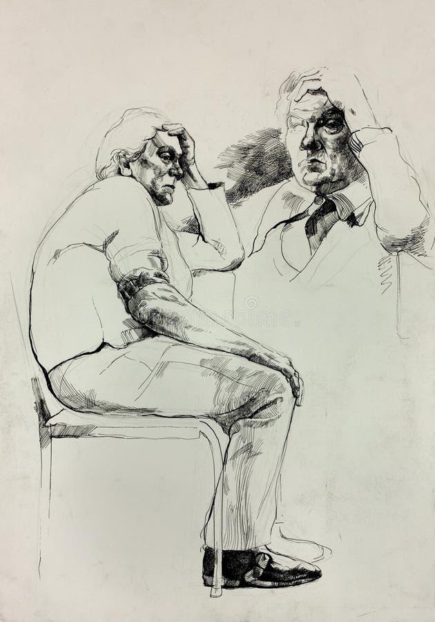 Эскиз человека бесплатная иллюстрация