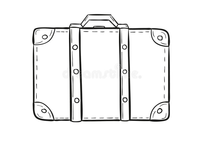 Эскиз чемодана иллюстрация вектора