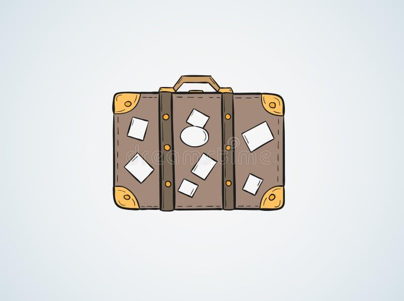 Download Эскиз чемодана иллюстрация вектора. иллюстрации насчитывающей эскиз - 41659846