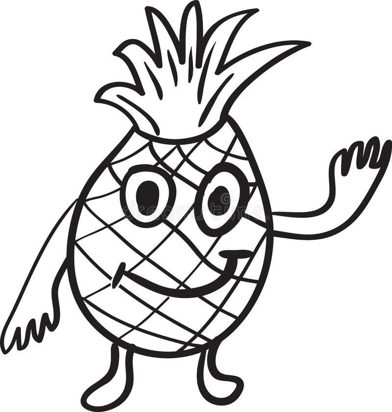 Download Эскиз шаржа ананаса иллюстрация вектора. иллюстрации насчитывающей компьютер - 41661764