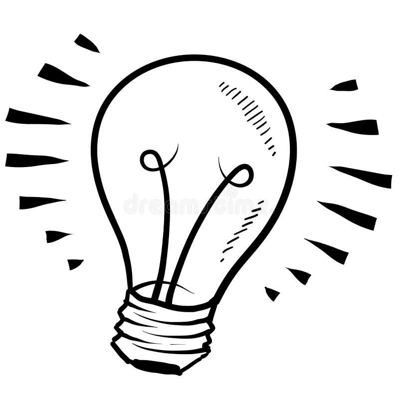 Эскиз электрической лампочки бесплатная иллюстрация