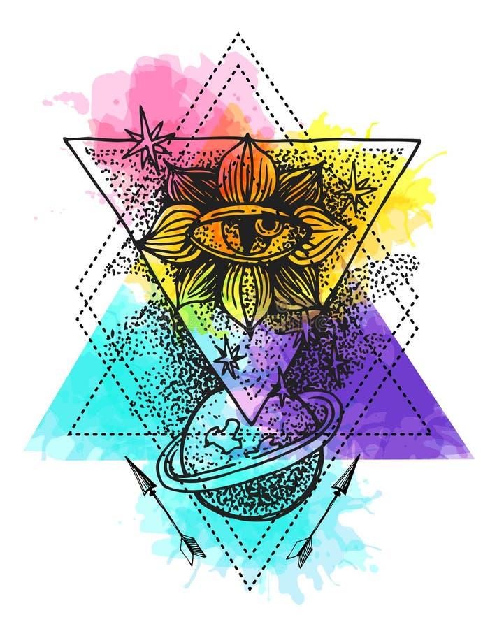 Эскиз элемента татуировки иллюстрация вектора