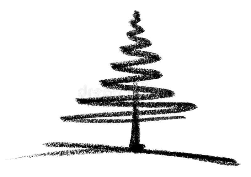 эскиз conifer иллюстрация вектора