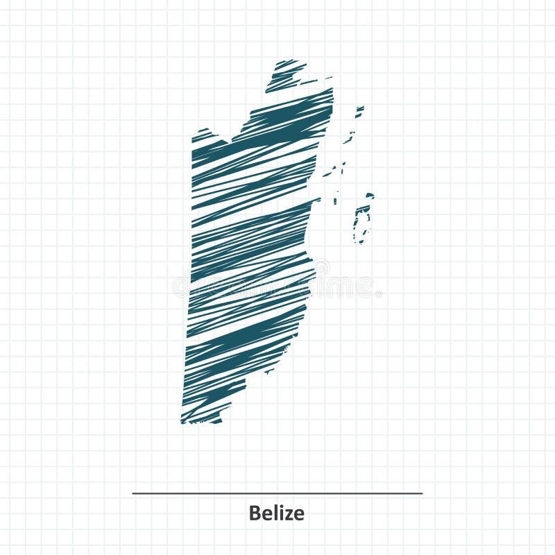 Эскиз Doodle карты Белиза бесплатная иллюстрация