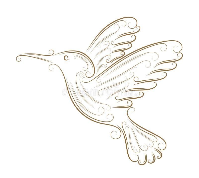 эскиз hummingbird иллюстрация вектора
