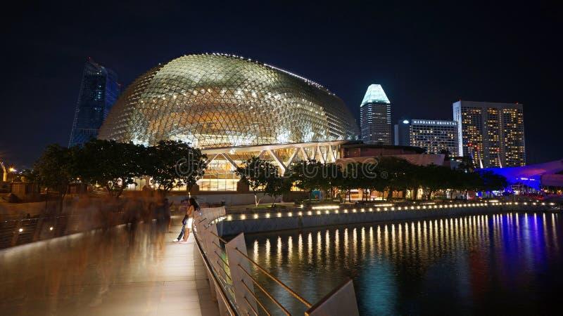 Эспланада - театры на заливе, Сингапур стоковое фото rf