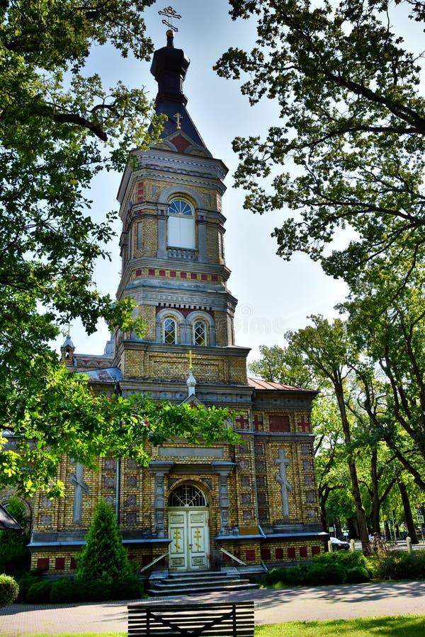 Эстонское апостольское правоверное преобразование Parnu нашего лорда Церков стоковое изображение rf