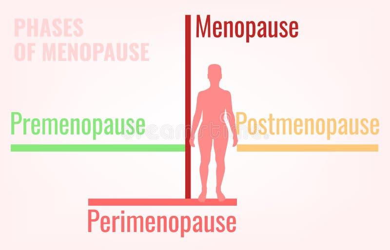 Этапы менопаузы Infographic иллюстрация штока