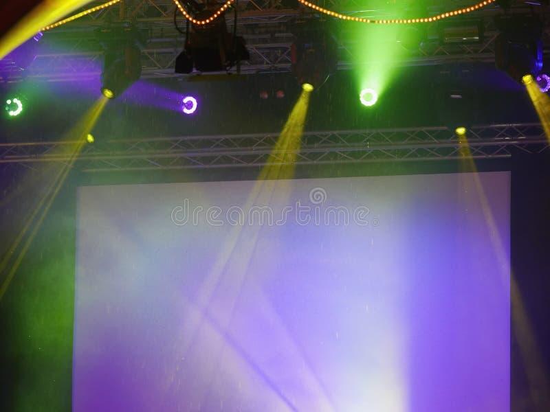 Этап выставки экрана стоковая фотография