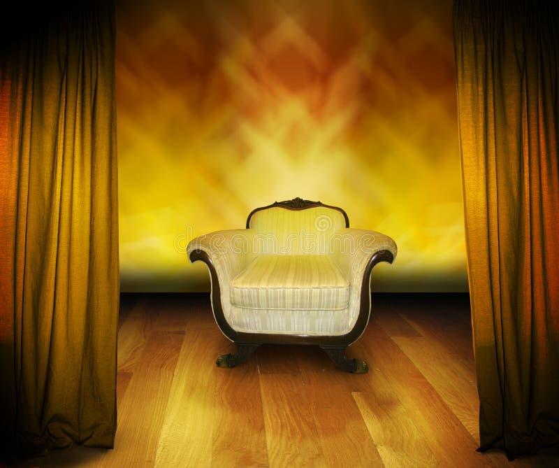 этап интервью стула стоковое изображение rf