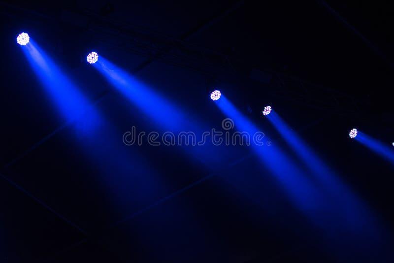 Этап освещает предпосылку стоковая фотография rf