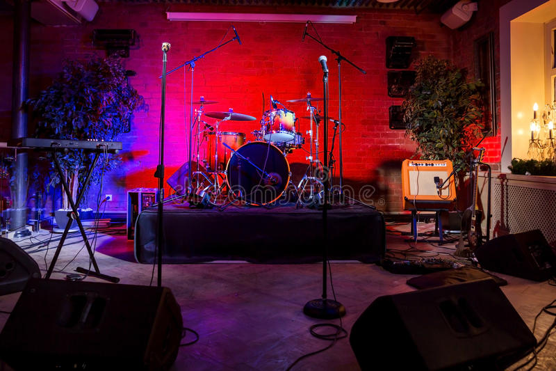 Этап рок-концерта стоковое фото rf