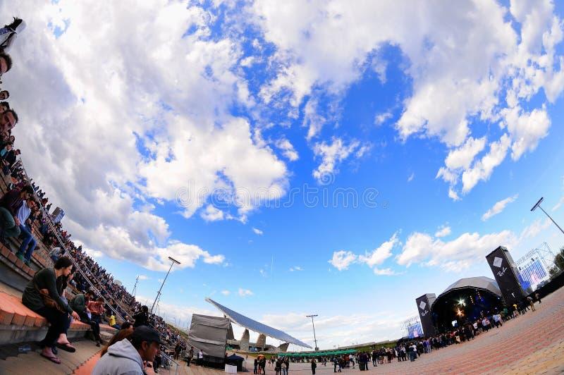 Этап Рэй-запрета фестиваля 2013 звука Heineken Primavera стоковая фотография