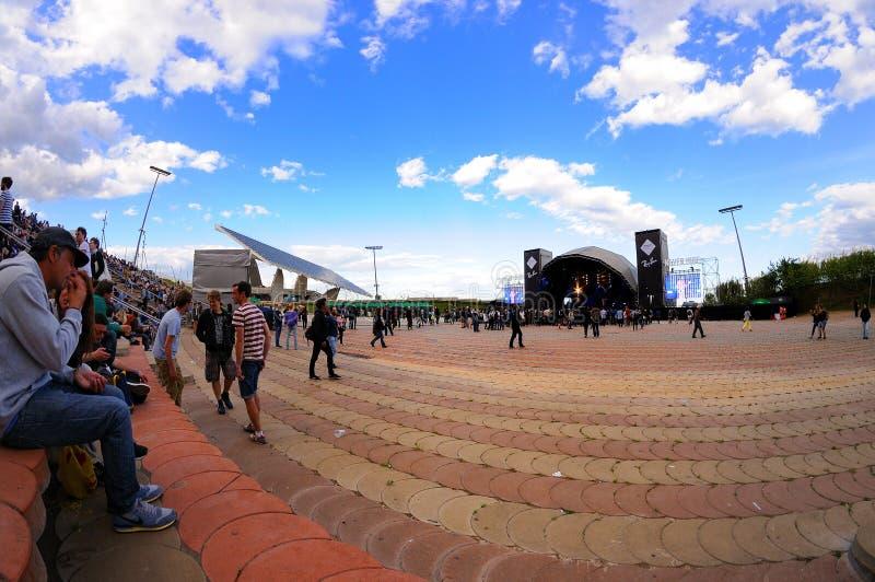 Этап Рэй-запрета фестиваля 2013 звука Heineken Primavera стоковые изображения
