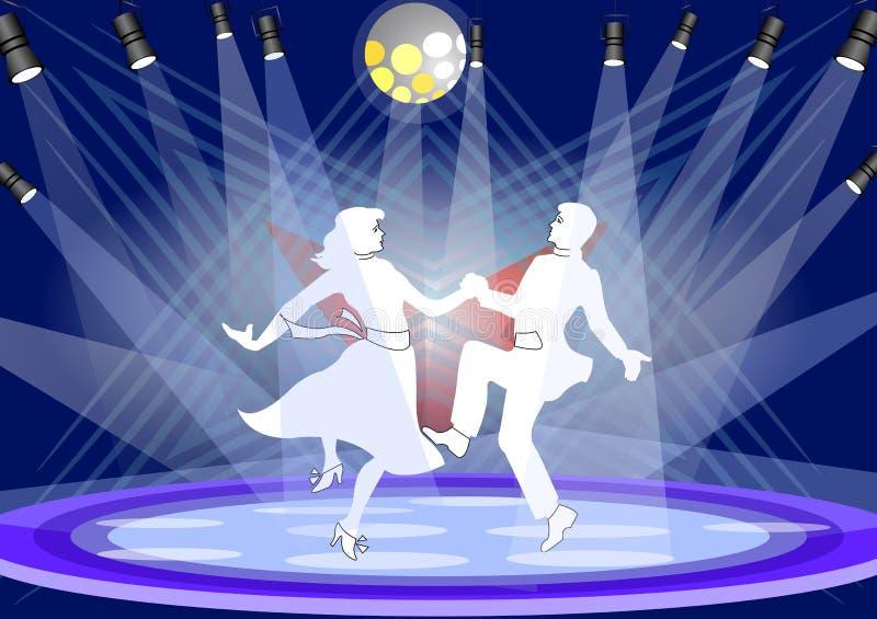 этап танцульки иллюстрация штока