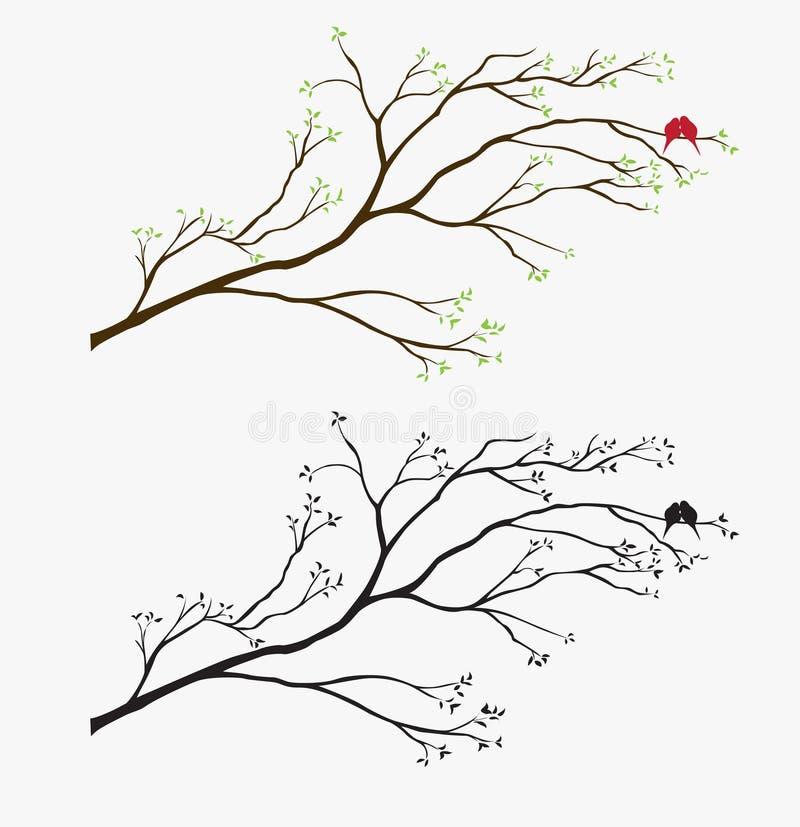 этикета птицы произведения искысства иллюстрация вектора