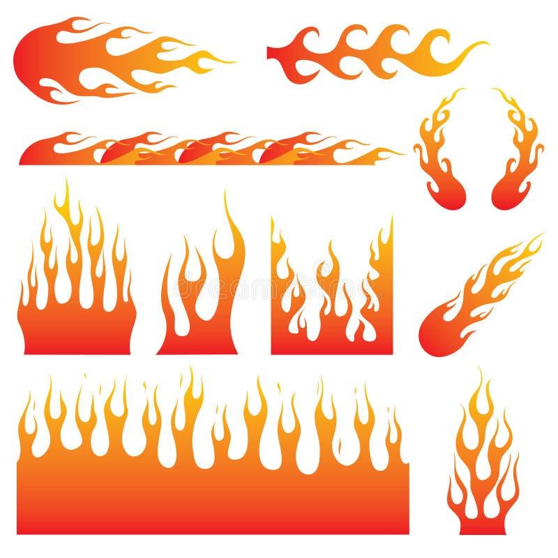 Этикета пламени иллюстрация штока