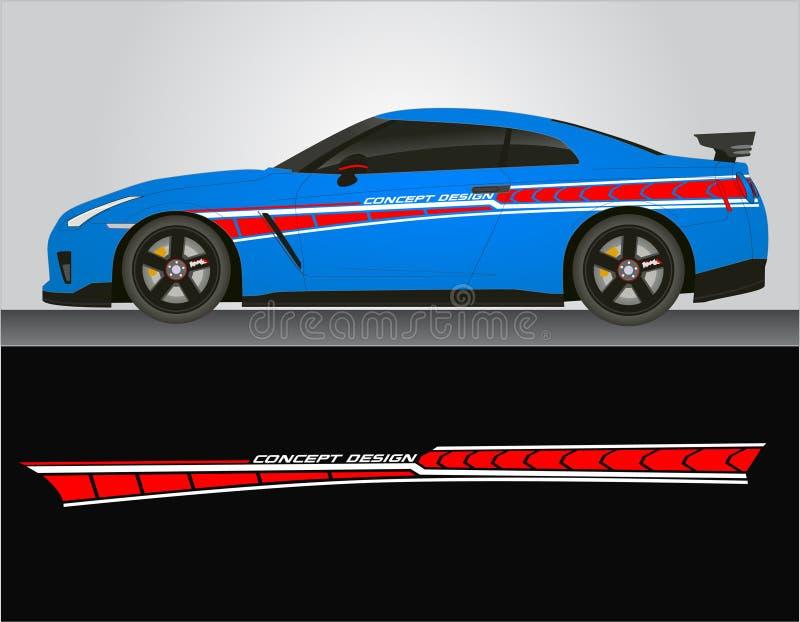 Этикеты стикера винилов для автомобиля иллюстрация вектора