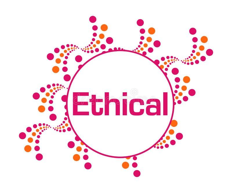 Этичные розовые оранжевые абстрактные точки бесплатная иллюстрация