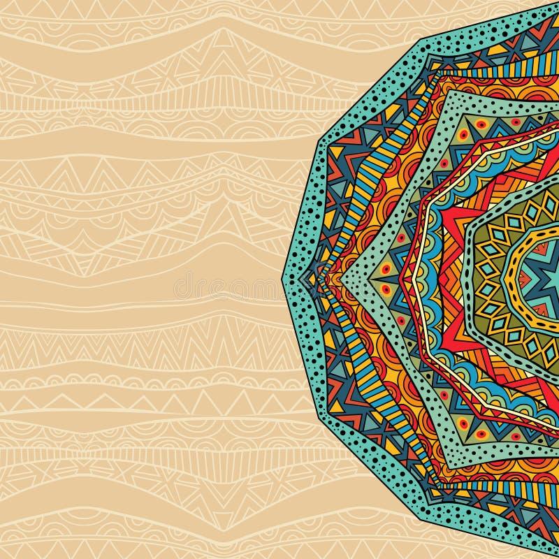 Этническая абстрактная предпосылка бесплатная иллюстрация