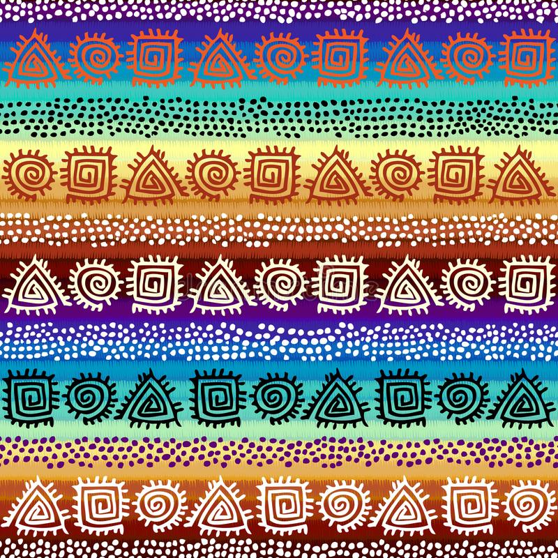 Этническая безшовная картина в африканском стиле иллюстрация вектора