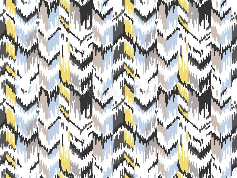 Этническая безшовная картина Племенная этническая текстура вектора Striped картина в ацтекском стиле Орнамент фольклора Ikat геом бесплатная иллюстрация