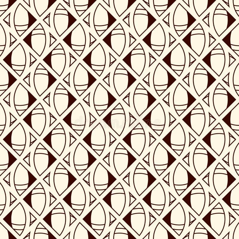 Этническая и племенная безшовная поверхностная картина с геометрическими формами Бумага африканского стиля цифровая с стилизованн бесплатная иллюстрация