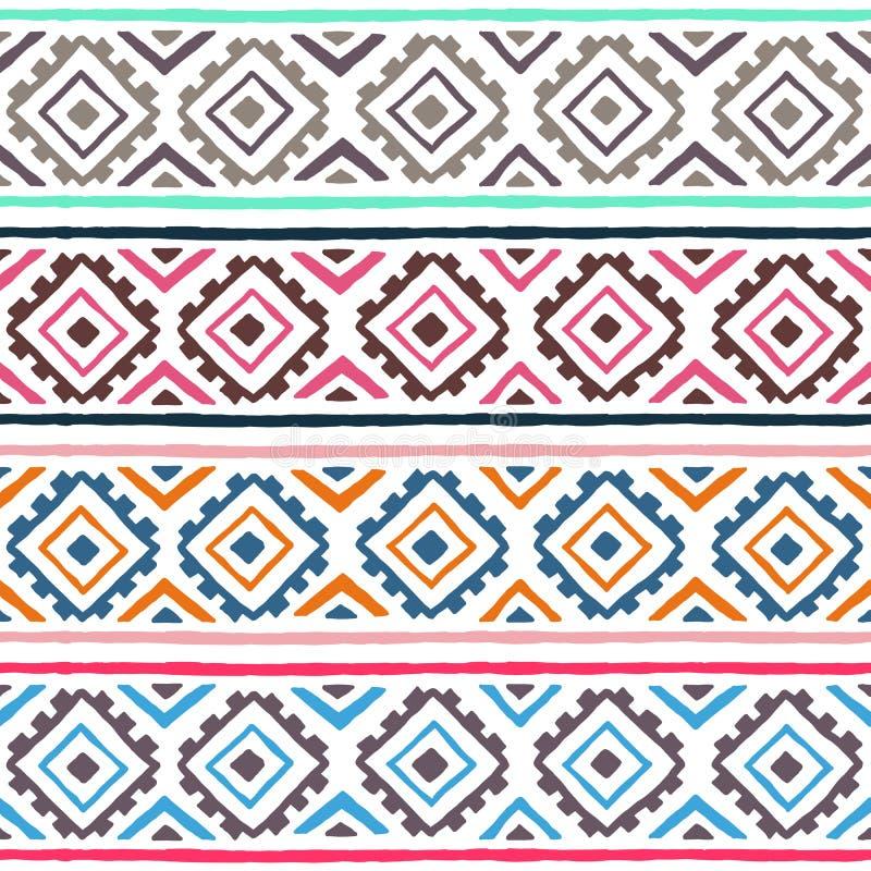 этническая картина безшовная геометрический орнамент Племенные мотивы Summ иллюстрация штока