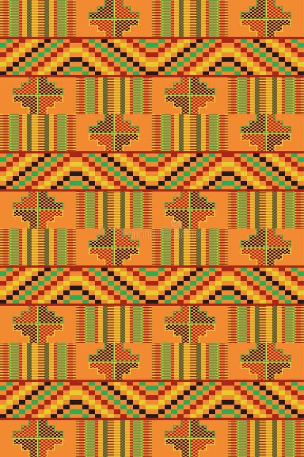 этническая картина безшовная Kente ткани бесплатная иллюстрация