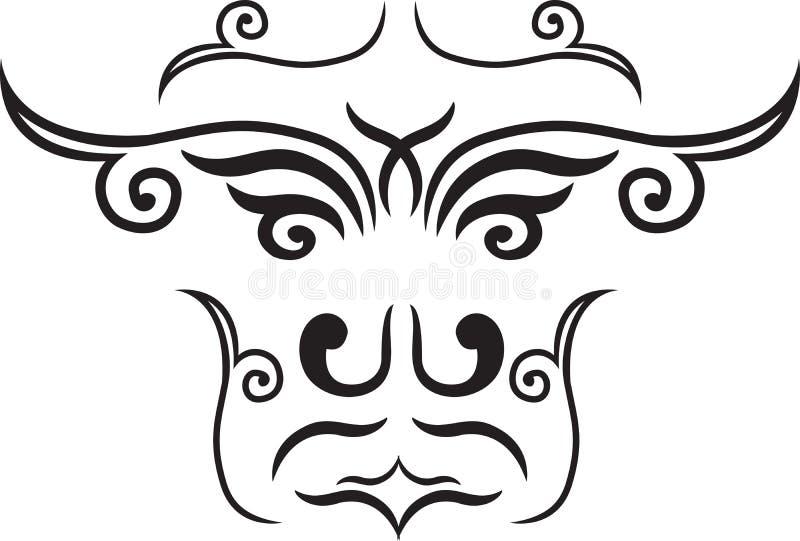 этническая маска иллюстрация вектора