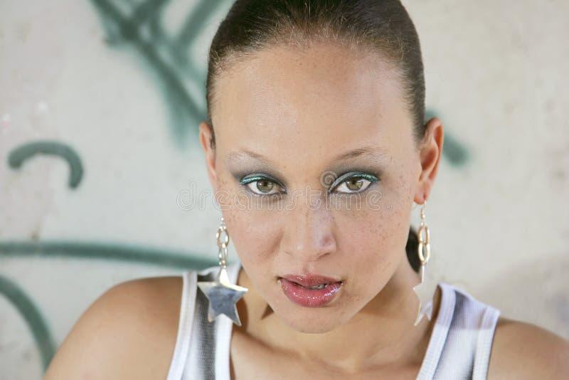 этническая милая женщина стоковые изображения rf