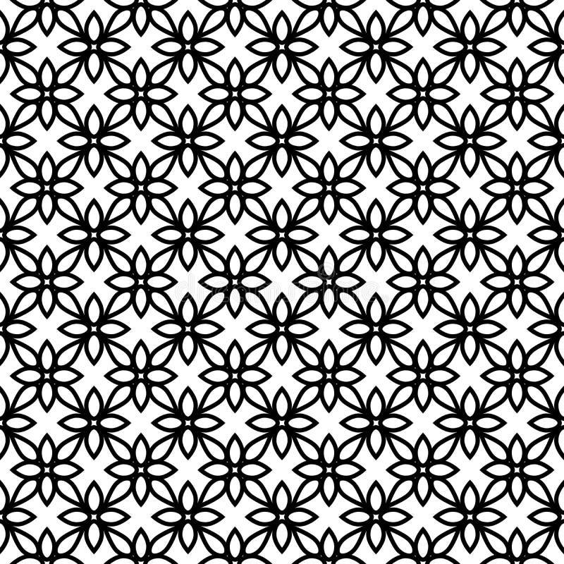 Этническая предпосылка blockprint иллюстрация вектора