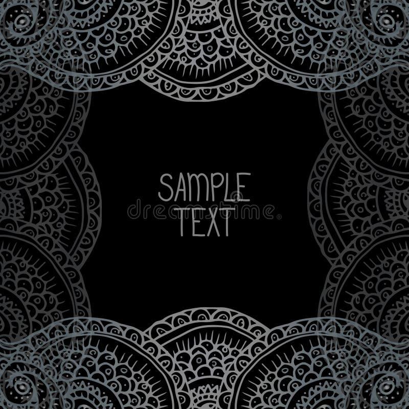 Этническая племенная абстрактная рамка квадрата картины предпосылки в векторе с местом для вашего текста Смогите быть использован иллюстрация вектора