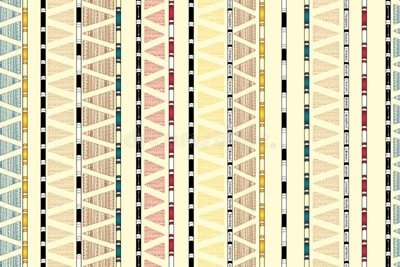 Download Этническая племенная декоративная безшовная предпосылка Иллюстрация вектора - иллюстрации насчитывающей бумага, эмблема: 40586244