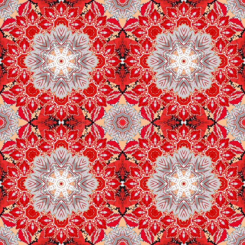 Этническая флористическая безшовная картина абстрактный ornamental иллюстрация штока