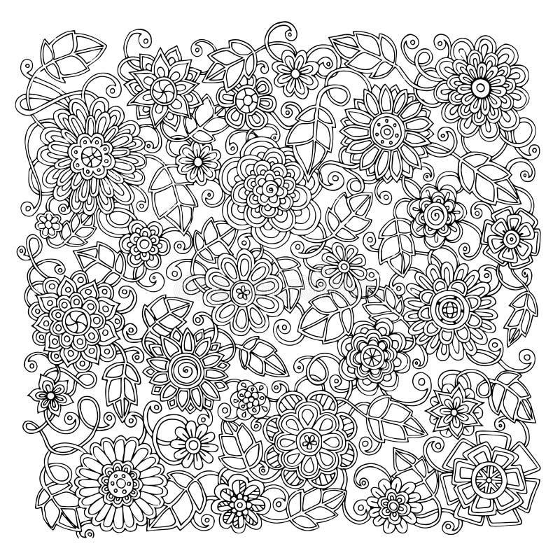 Этническая флористическая ретро картина предпосылки doodle бесплатная иллюстрация