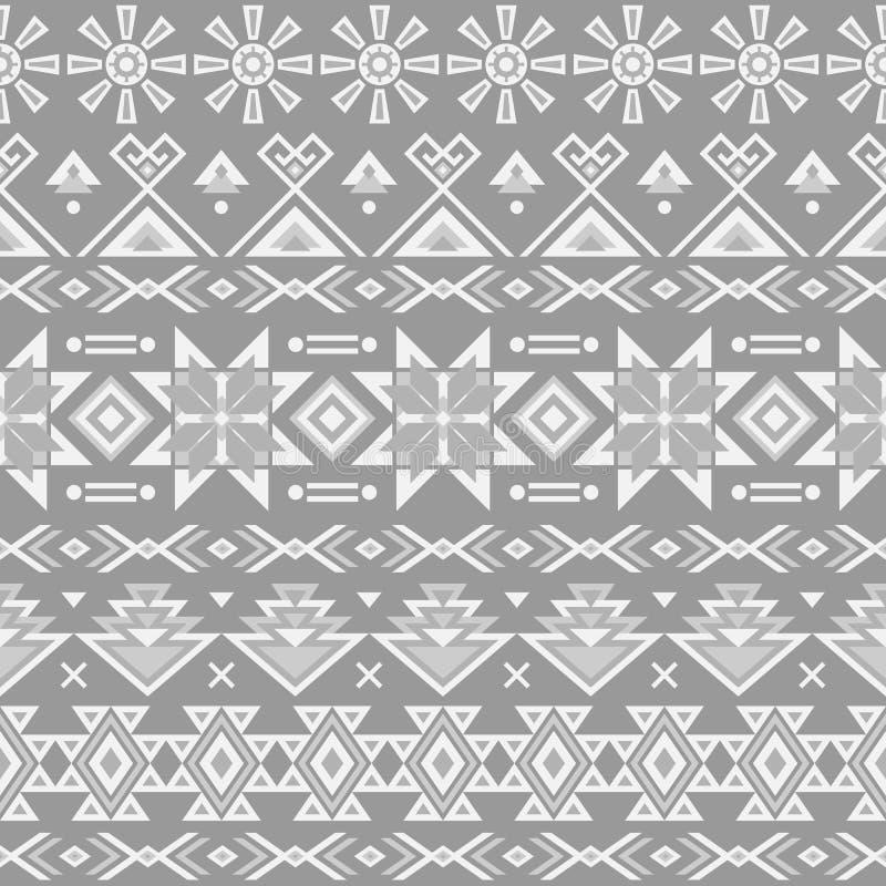 Этническая striped безшовная картина бесплатная иллюстрация