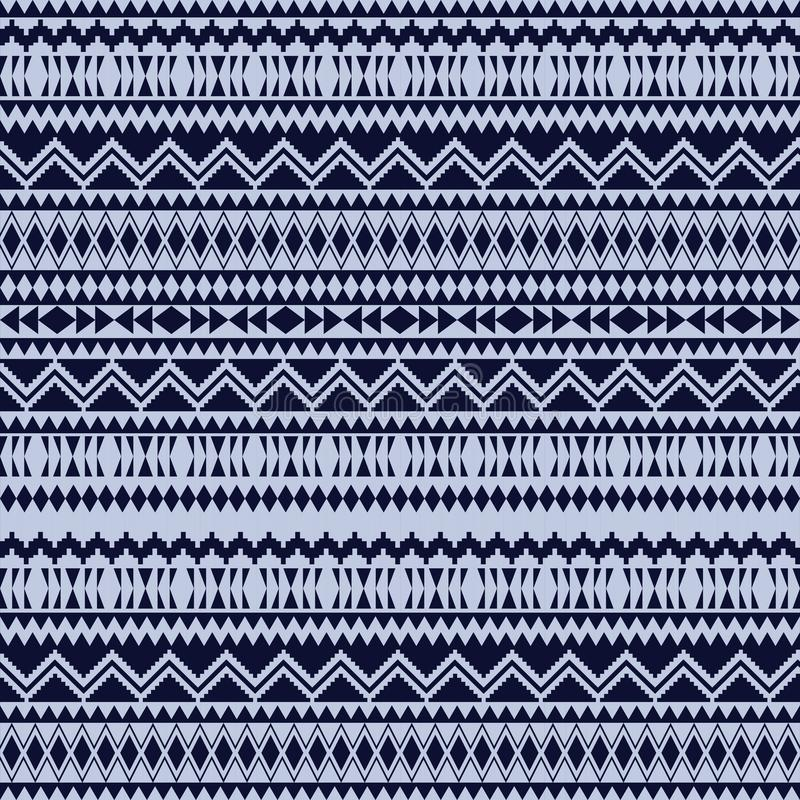 Этнические безшовные картины Ацтекские геометрические предпосылки Стильная ткань навахо Племенная текстура предпосылки Современны иллюстрация вектора
