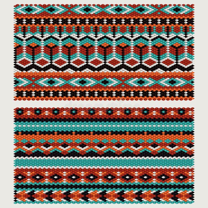 Этнические картины на связанной ткани яркое декоративное солнце stylization цветков под вектором иллюстрация штока