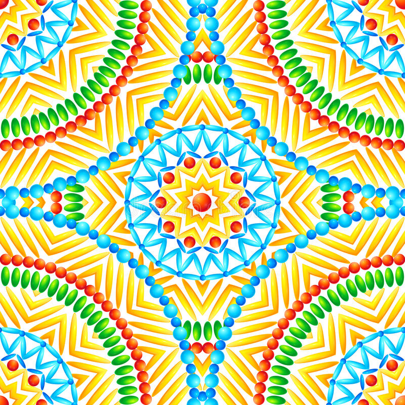 Этнический африканский стиль объезжает безшовную картину иллюстрация вектора