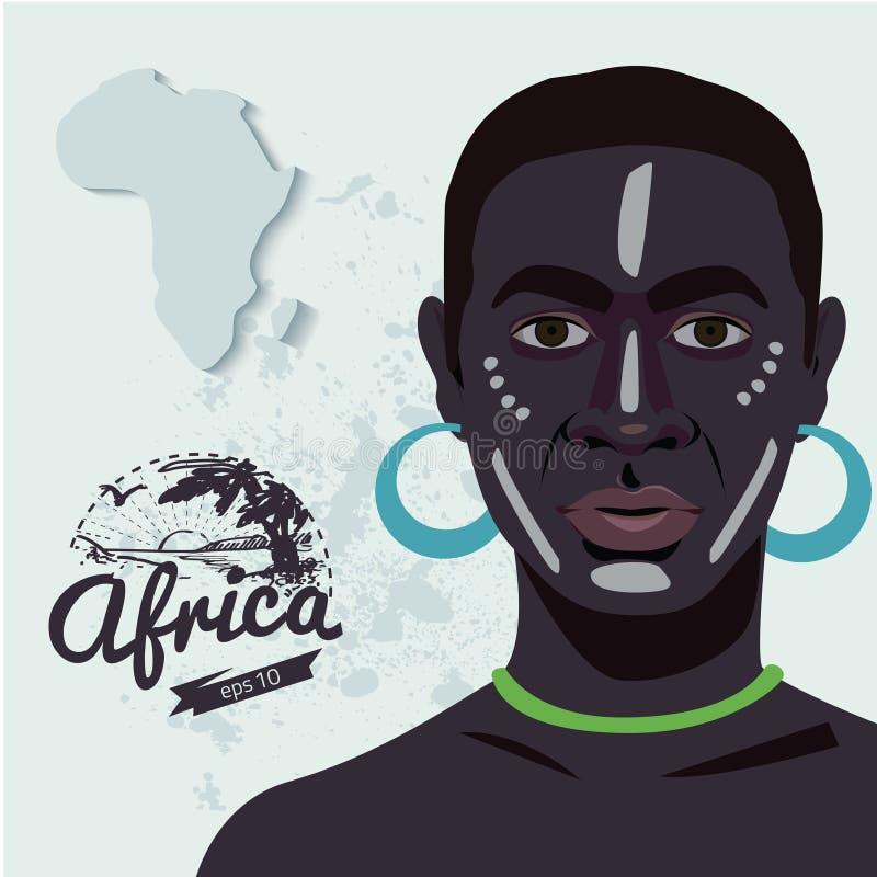 Этнический африканский человек иллюстрация штока