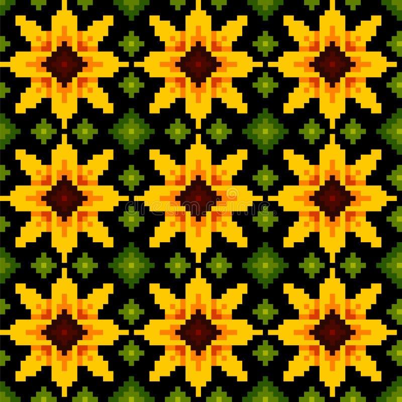 Этнический геометрический орнамент Картина иллюстрация вектора