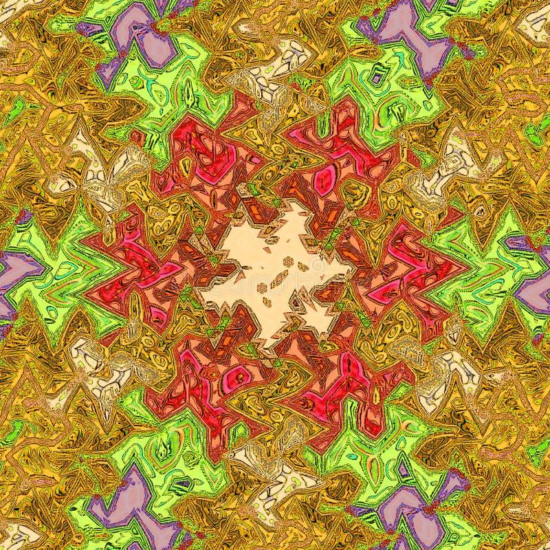 Этнический красочный график ткани Зигзаг в абстрактном стиле и ярких цветах бесплатная иллюстрация